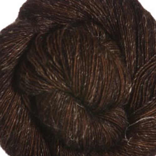 Madelinetosh Merino light Garn Log Cabin Brown