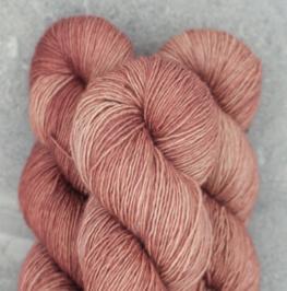 Madelinetosh Merino light Yarn Pink Mist Smoke Tree