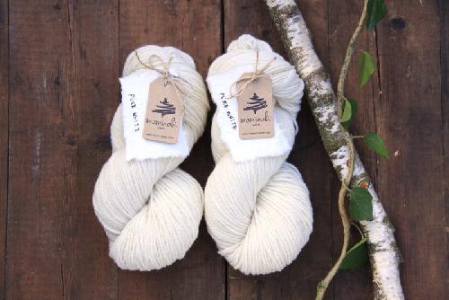 Mominoki German Merino undyed - ungefärbt Garn Pure White