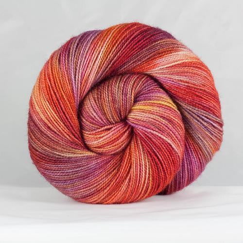 Snailyarn Merino Twist Garn Crimson Sunset