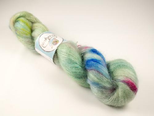 Snailyarn Silky Mohair Lace Garn Mint Pop