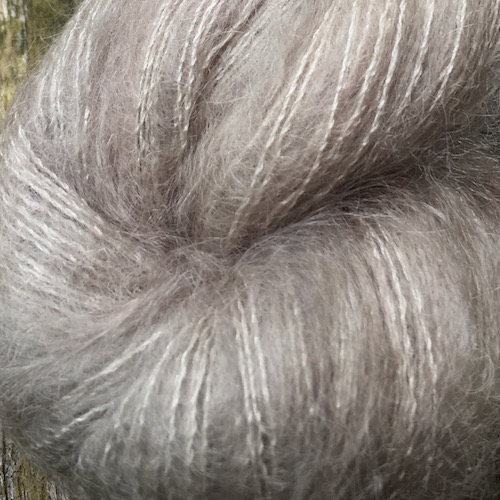 Snailyarn Silky Mohair Lace Yarn Parchment