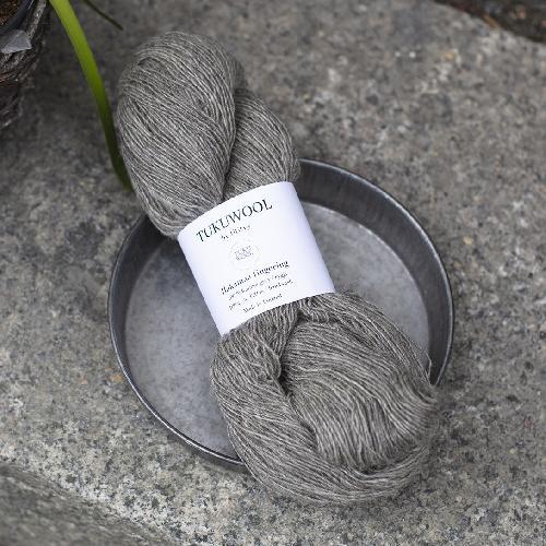 Tukuwool Hakamaa fingering Yarn Grey