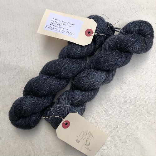 Wishbone Flax Flower Yarn Black Sea Blue